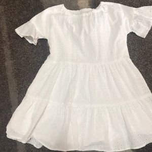White lace dress for girls